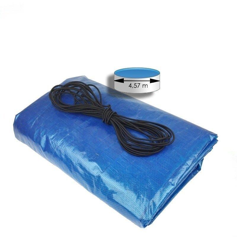 Krycia plachta modrá kruh na nadzemný bazén 4,57 m