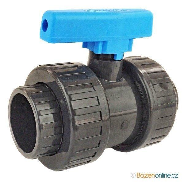 Bazénový gulový ventil PVC 63 mm lepenie / lepenie