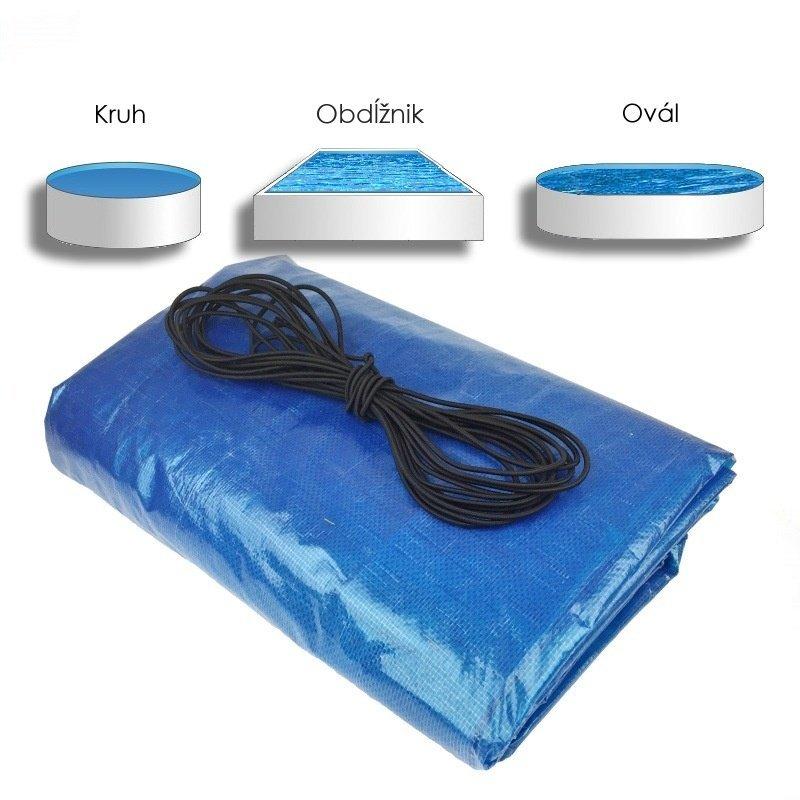 Krycia plachta na bazén modrá na mieru