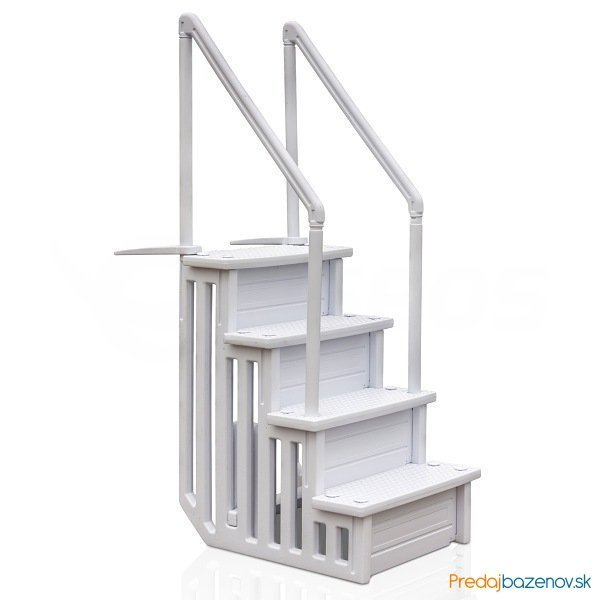 Vnútorné plastové schody do bazéna
