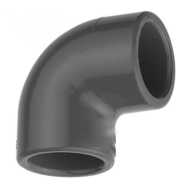 """Koleno 90° PVC 63 x 63 mm lepenie / vnútorný závit 2"""""""