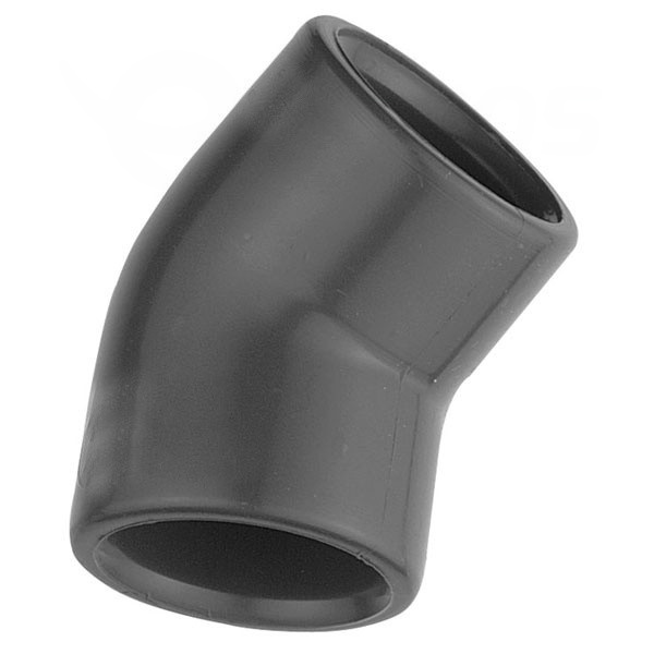 Koleno 45° PVC 50 x 50 mm lepenie / lepenie