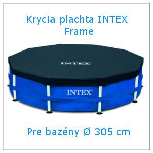 Krycia plachta na nadzemné bazény Intex Frame 305 cm