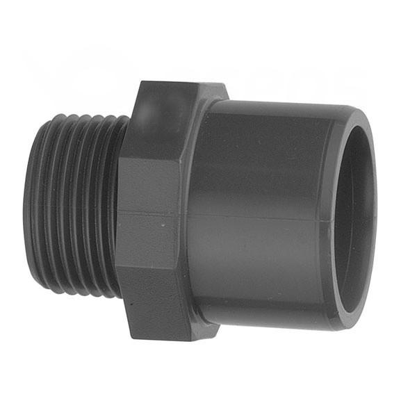 """Spojka PVC trubiek 50 mm lepenie / vonkajší závit 1 1/2"""""""