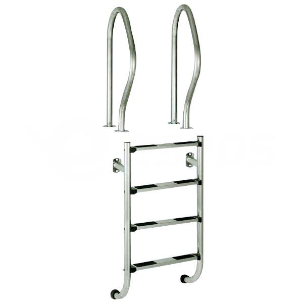 Rebrík nerez dvojdielny 4 stupne, AISI 304
