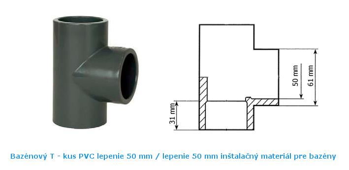 Bazénový t-kus 50 mm
